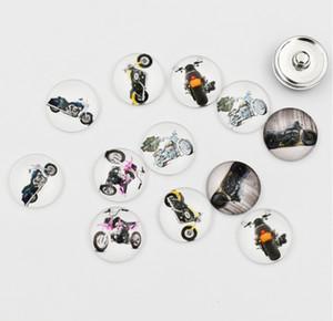 Moto Snap Button Gioielli 18MM vetro rotondo Harley Snap fascini di alta qualità a scatto Accessori per la collana del braccialetto dell'orecchino