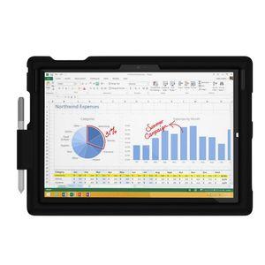 MingShore New Surface Pro 4 케이스 아이 친화적 인 실리콘 충격 방지 견고한 커버 프로 3 스타일러스 홀더가있는 보호 타블렛 슬리브