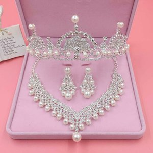 Beauty Silver Flower Bridal Necklace Earring Suits 3 pieces Jewelry Suits Wedding Bridal Jewelry P419010