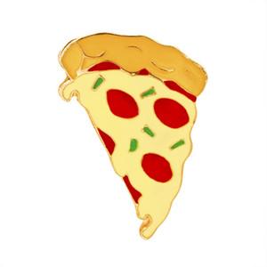 Émail nourriture colorée Pins Pizza Broche badge col chapeau enfants Petit cadeau de Noël Pins Brooches 0904318