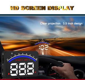 전문적인 자동차 알람 시스템 M6 OBD2 HUD 프로젝터 헤드 업 디스플레이 KM / h MPH 오버 스피드 경고 OBD II Inteface HUD 스타일링