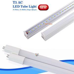 luz del tubo T5 LED 4 pies 3 pies 2 pies T5 luces LED G5 fluorescentes 9w 13w 18w 22w 4 pies LED integrado tubos de lámpara ac85-265v