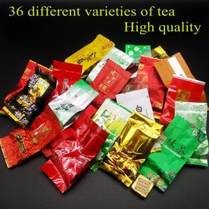 36 diferentes sabores Famoso chá chinês Leite chá oolong Dahongpao Tieguanyin Pu erh chá Verde Puer Preto Frete grátis