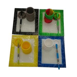 Silikon-Tupfer-Werkzeug-Kit mit 14 * 11,5 mm Silikon-Wachsmatte Dabber-Werkzeug 26ml Fass-Trommelöl-Behälter Trockene Kräutergläser FDA-Zulassung