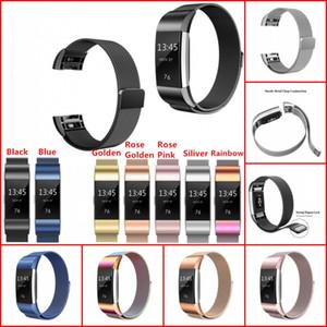 Reemplazo magnética Milanese Loop banda para Fitbit Carga 2 cargo2 pulsera de acero inoxidable reloj de pulsera banda de malla Correa