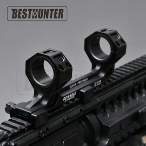 Estender Dual Ring 1 Polegada / 30mm com Cantilever Heavy Duty Scope Instrumento de Nível de Montagem Para 20mm Picatinny Rail com Nível de Bolha