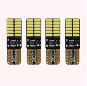 4шт / серия 800 люменов T10 W5W 2835 168 LED CanBus Error Free 4014 24 SMD 5W автомобиля Передняя сторона Маркер двери номерного знака светодиодные лампы