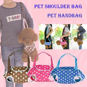 Novo Estilo multifuncional Ao Ar Livre Pet portadores de cão bolsa portátil totes bolsa de ombro arnês para cão gato atacado transporte rápido DHL