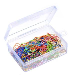 240 조각 전구 모양의 스티치 마커 용 보관 상자가있는 안전핀, 12 색 무료 배송