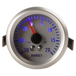 "Plata + Gris Color 2"" 52mm 0 ~ 30in.Hg / 0 ~ 20PSI auto del coche Boost Gauge coches Turbo Boost Gauge Medidor CEC_505"