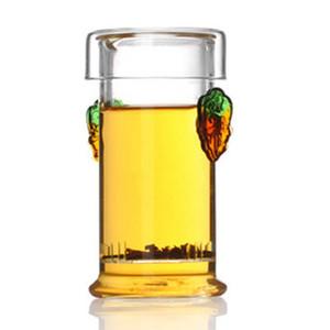 YGS-Y257 pote de chá de vidro com filtro, claro bule de borosilicato resistente ao calor florescendo, bules resistentes ao calor para puer, chás de flores