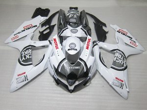 100% apto para carenados Suzuki moldeados por inyección GSXR600 08 09 10 blanco negro carenado GSXR750 2008 2009 2010 OI14