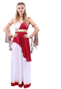Alta qualidade do partido do baile de máscaras do dia das bruxas traje cleopatra egípcio queen dress faraó egito cospaly antigo grego dress