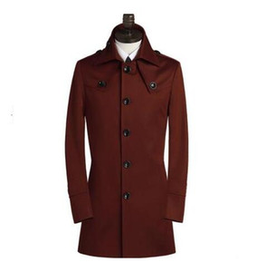 Free shipping 2017 new designer slim sexy trench coat men long sleeve mens trench coat clothing business outerwear belt S - 9XL