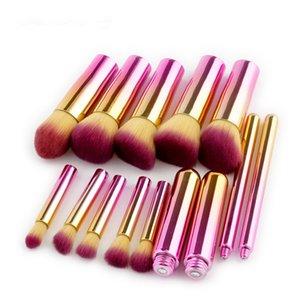 Haute qualité 3 modèles dégradé coloré brosse de maquillage 10 pcs maquillage brosse boxed outils de beauté