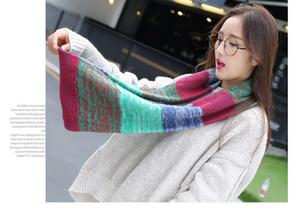 2016 neue Mode Mix Farben Ring Frauen Schals Gestrickte Wolle Hals Cowl Wrap Schal verdicken Winter warme Ring Loop Schal.