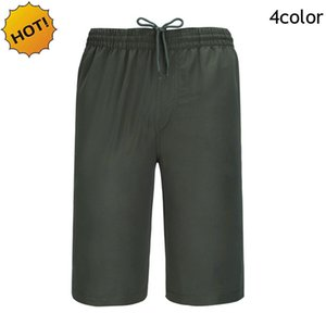 New2017 Outdoor Hiking Soldiers Summer Quick Drying Straight Solid Mens Cargo Short Knee Length Elastic Waist Army Tactical Shorts Men