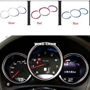 Acessórios interiores do carro Cromo Styling Para Porsche Macan Dashboard Cover Trim Auto Decoração