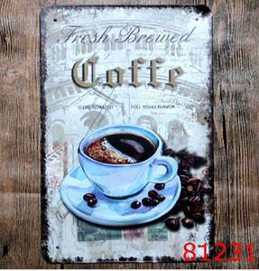 KAFFEE Vintage Blechschilder Retro Metall Zeichen Antike Nachahmung Eisen Platte Malerei Dekor Die Wand der Bar Cafe Pub Shop Farbe Startseite