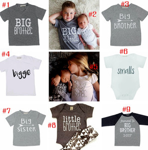 INS Baby Big Sister Big Brother Tshirt Top cardigan bambini ragazzi ragazze Little Brother Little Sister pagliaccetti in cotone per bambini outwear