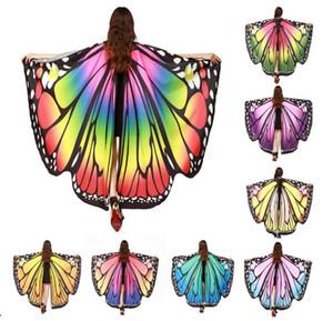 Ücretsiz Kargo 8 Renkler kadın Cadılar Bayramı Şal Kostümleri Sahne Yenilik Şifon Dans Kanatları Yetişkin Oryantal Dans Kelebek Kanatları Aksesuar
