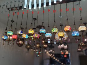 Diffuse Kaffee-Droplight Lampen und Laternen der Türkei American Country Bar Lampe Bohemia Mosaic Flur Lampe
