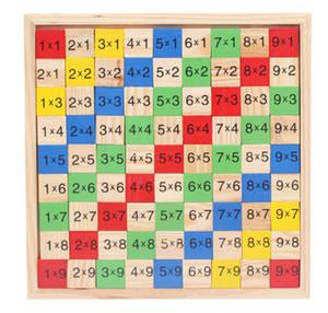 Nuevos mesa de madera de juguete Multiplicación los niños juguetes de madera educativos de la primera infancia que funciona el foro matemáticas envío