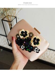 Новая мода Кристалл цветок свадебные сумки клатч вечерняя сумка рука бисер сумки кошелек бесплатная доставка дизайнер бренда.