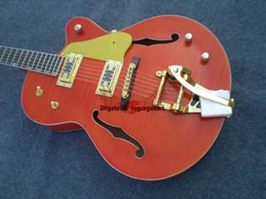 Custom Shop Top Orange Jazz Guitar новое прибытие оптовые гитары из Китая горячие (по запросу пользовательский цвет)