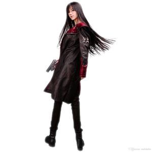 Malidaike Devil May Cry 5 Jogo Dante Cosplay Costume Neutral Trenchcoat Leather Long Jacket Melhor presente para o desgaste diário e Halloween