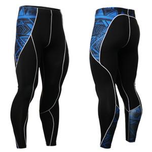 Hombres al por mayor de mens calientes de la pierna Long John leotardos los pantalones legging Crossfit masculino MMA polainas de compresión del entrenamiento