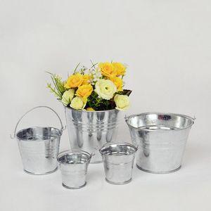 Galvanisé Seaux Seaux De Stockage En Métal Pot De Fleur Vase Seau Jardin Planteur Décor À La Maison Tin Planteur KKA1586