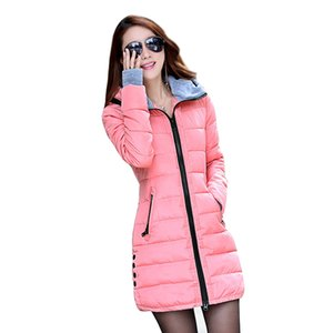 Wholesale- 2016 neue Frauen-Winter Fashion Jacke unten Cotton Outwear Jacken-dünne Parkas Damen Mantel plus Größe L-XXXL C020