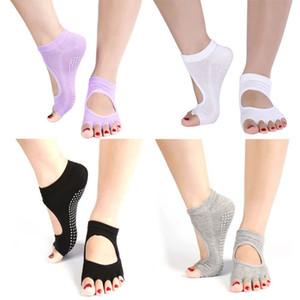Großhandels- 1 Paar Half Toe Knöchel Grip Dance Pilates Socken Fünf 5 Zehen Rutschfeste Socken
