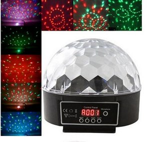 9 Color Voice Control LED Crystal Magic Ball Light Change Laser Effects Stage Lighting Disco Lights For DJ Bar Party Supplies