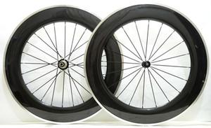 Бесплатная доставка сплава тормозной поверхности углеродистых колес 88 мм глубина 23 мм ширина дорожный велосипед колес с Powerway R36 концентратор