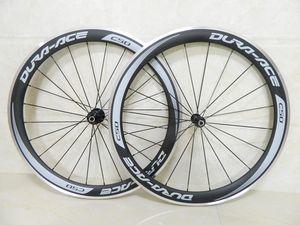 Decalcomania grigia Ruote in carbonio Ruote in alluminio per bici da bicicletta Ruote in carbonio per bici da strada con copertoncino da 50mm con mozzo Novatec A291