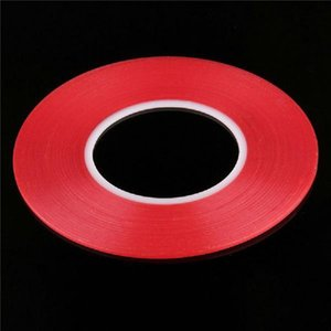50pcs 투명 투명 접착제 투명 양면 접착 테이프 내열성 범용 핸드폰 수리 스티커 빨간색