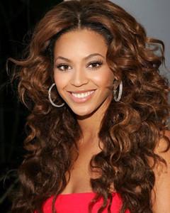 비욘세 hairstye 180 % 밀도 전체 인간의 머리 가발 느슨한 컬 360 레이스 정면 가발 7A 레이스 앞 인간의 머리 가발