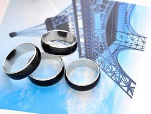 Fresco di colore anello di fidanzamento delle donne anelli di rame Dita larga 4 millimetri 6 millimetri Mix modo di formato dell'anello di umore Modifica dei colori dei monili della lega del DHL