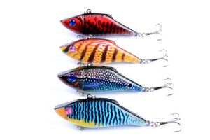 4pcs of Bionic vib Topwater Fishing Lure Artificial Swimbait Wobbler 7cm, 11g Hard Fishing Tackle Pesca Hooks Fake Lures