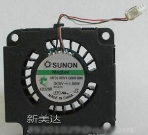 الأصلي SUNON MF35100V1-Q000-G99 3.5CM DC منفاخ مع 5V 1.50W 35X35X10MM الهيدروليكية تحمل 3 أسلاك