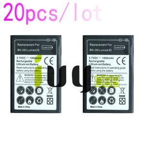 20pcs lot 1800mAh BN-06 BN06 BN 06 Replacement Battery For Microsoft Nokia Lumia 430 Lumia430 Batteries Batteria Batterij