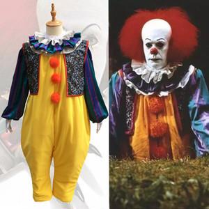 Filme de Stephen King É Cosplay Costume Horror Pennywise Palhaço Terno Custom Made Carnaval Halloween Casa Assombrada Traje Do Partido