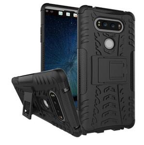 LG V20 Kapak Darbeye Silikon Zırh Telefon Tutucu LG V20 Için Standı Kılıf LGV20 F800 F800K H990ds F800L F800S V 20