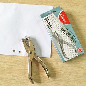 Schule Büro Metall Single Hole Puncher Hand Papier Punch Single Hole Scrapbooking Punches 1-8 Blatt, mit Kleinkasten