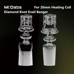 Mr Dabs Electric Diamond Knot Quartz Nail Double Stack Frosted Joint para bobina de calentamiento de 20 mm para plataformas petrolíferas