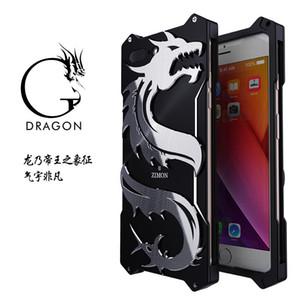 Para el iPhone 7 8 más caso dragón diseño armadura Heavy Dust metal aluminio Thor Ironman funda para el iphone 6 6S plus