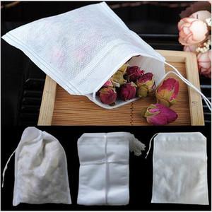 Vaciar Tea Teabags 100Pcs / Lot bolsas filtrantes cadena no tejida Bolsita de té 6 x 8cm para té café