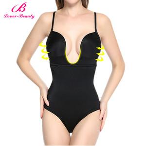 Gros-Amant Beauté Femmes U Body Plunge Costume Dos Nu Body Full Shaper Body Shaper Taille Minceur Taille Trianer Bodysuit-D5